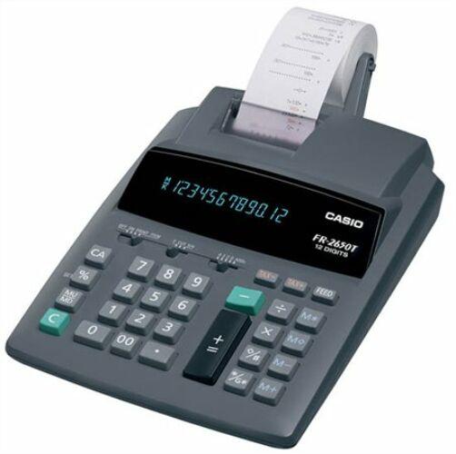 Számológép, szalagos, 12 számjegy, 2 színű nyomtató, CASIO FR-2650 (GCFR2650T) FR 2650T