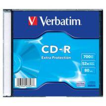 CD-R lemez, 700MB, 52x, vékony tok, VERBATIM DataLife (CDV7052V1DL)