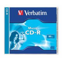 CD-R lemez, 700MB, 80min, 16x, normál tok, VERBATIM Live it! (CDVA80L)