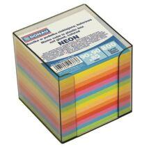 Kockatömb, 89x89x85 mm, adagolóval, DONAU, színes (D749299)
