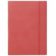 Gumis mappa, karton, A4, kockás, DONAU, piros (DFEP041)