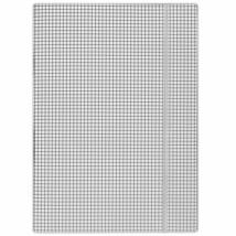 Gumis mappa, karton, A4, kockás, DONAU, fehér (DFEP091)