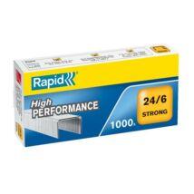 Tűzőkapocs, 24/6, horganyzott, RAPID Strong (E24855800)