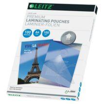 Meleglamináló fólia, 100 mikron, A4, fényes, UDT technológiával, LEITZ iLam (E74800000)