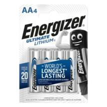 Elem, AA ceruza, 4 db, Lítium, ENERGIZER Ultimate Lithium (EEAA4L)