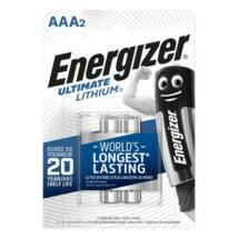 Elem, AAA mikro, 2 db, Lítium, ENERGIZER Ultimate Lithium (EEAAA2L)