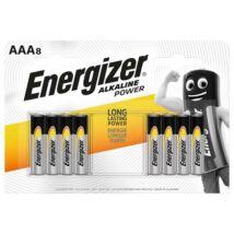 Elem, AAA mikro, 8 db, ENERGIZER Alkaline Power (EEAAA8AP)