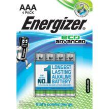 Elem, AAA, E92, mikro, 4 db, alkáli, ENERGIZER EcoAdvanced (EEE924EA)