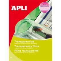 Fólia, írásvetítőhöz, A4, fekete-fehér lézernyomtatóba, APLI (FOLA1268)
