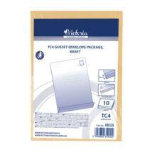 Redős-talpas tasak csomag, TC4, szilikonos, 40 mm talp, VICTORIA, barna kraft (IBI25)
