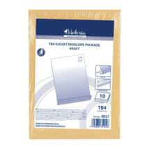 Redős-talpas tasak csomag, TB4, szilikonos, 40 mm talp, VICTORIA, barna kraft (IBI27)