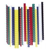 Spirál, műanyag, 38 mm, 281-340 lap, FELLOWES, 50 db, fehér (IFW53494)