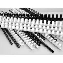 Spirál, műanyag, 8 mm, 21-40 lap, VICTORIA, fehér (ILKVS8F)