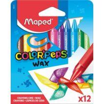 Zsírkréta, MAPED Color`Peps Wax, 12 különböző szín (IMA861011)