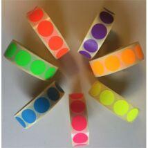 Etikett, 20 mm kör, 1000 etikett/tekercs, piros (ISCK20P)