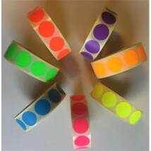 Etikett, 20 mm kör, 1000 etikett/tekercs, zöld (ISCK20Z)