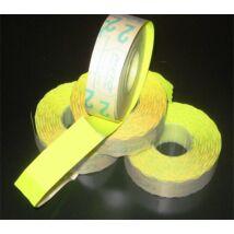 Árazógépszalag, 19x16 mm, METO, citrom (ISMKC)