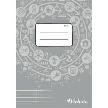 Füzet, tűzött, A5, szótár, 32 lap, VICTORIA Circle 31-32 (ISVF3132U)