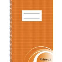 Spirálfüzet, A4, francia kockás, 70 lap, VICTORIA (ISVFS70F)