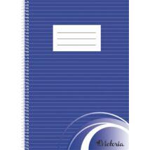 Spirálfüzet, A4, vonalas, 70 lap, VICTORIA (ISVFS70V)