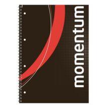 Spirálfüzet, A4, kockás, 90 lap, perforált, lyukasztott, VICTORIA, Momentum (ISVFS90K)
