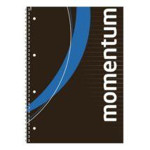 Spirálfüzet, A4, vonalas, 90 lap, perforált, lyukasztott, VICTORIA, Momentum (ISVFS90V)