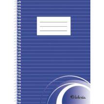 Spirálfüzet, A5, vonalas, 70 lap, VICTORIA (ISVFSA5V)
