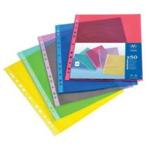 Genotherm, lefűzhető, A4, 50 mikron, víztiszta, VIQUEL Trend, vegyes színek (IV106050)