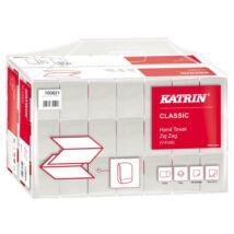 Kéztörlő, Z hajtogatott, 2 rétegű, KATRIN, fehér (KHH375)