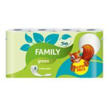 Toalettpapír, 2 rétegű, 8 tekercses, TENTO Family, zöld (KHH647)