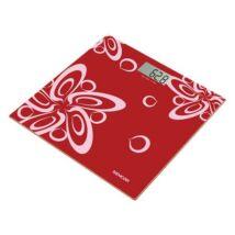Személymérleg, edzett üveg mérőfelület, SENCOR, piros (KHKG414)