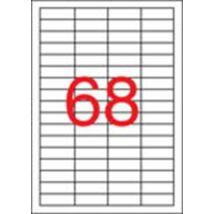 Etikett, univerzális, 48,5x16,9 mm, eltávolítható, APLI, 6800 etikett/csomag (LCA03053)