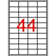 Etikett, 48,5x25,4 mm, poliészter, kerekített sarkú, APLI, átlátszó, 440 etikett/csomag (LCA10050)