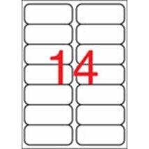 Etikett, 99,1x38,1 mm, poliészter, kerekített sarkú, APLI, átlátszó, 140 etikett/csomag (LCA10052)