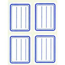 Füzetcímke, kék szegélyes, vonalas, 38x50 mm, 20 db, APLI (LCA10195)
