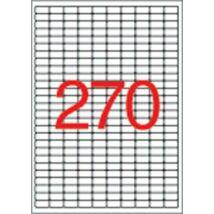 Etikett, univerzális, 17,8x10 mm, eltávolítható, kerekített sarkú, APLI, 6750 etikett/csomag (LCA10197)