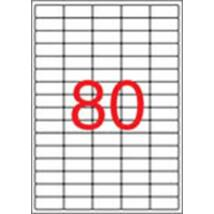 Etikett, univerzális, 35,6x16,9 mm, eltávolítható, kerekített sarkú, APLI, 2000 etikett/csomag (LCA10199)