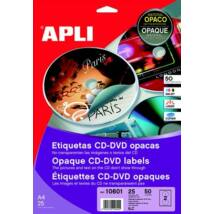 Etikett, CD/DVD, A4, teljes lefedettségű, matt, APLI Mega (LCA10808)