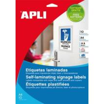 Etikett, 84,5x54 mm, hideglaminálható, APLI, 60 etikett/csomag (LCA11682)