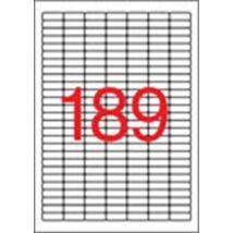 Etikett, 25,4x10 mm, felülcímkézéshez (tökéletes fedés), 3780 etikett/csomag (LCA11706)