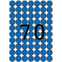 Etikett, 19 mm kör, színes, A5 hordozón, APLI, kék, 560 etikett/csomag (LCA12104)