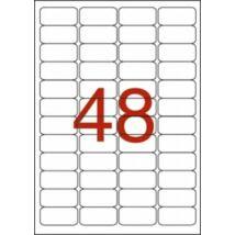 Etikett, 45,7x21,2 mm, poliészter, időjárásálló, kerekített sarkú, APLI, 960 etikett/csomag (LCA12112)