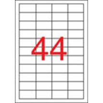 Etikett, 48,5x25,4 mm, poliészter, időjárásálló, matt, APLI, áttetsző, 880 etikett/csomag (LCA1223)