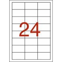 Etikett, 64,6x33,8 mm, poliészter, időjárásálló, APLI, 480 etikett/csomag (LCA1226)