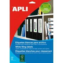 Etikett, univerzális, 190x61 mm, APLI, 100 etikett/csomag (LCA1233)