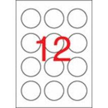Etikett, 60 mm kör, APLI, 1200 etikett/csomag (LCA1244)