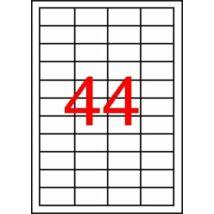 Etikett, 48,5x25,4 mm, poliészter, időjárásálló, matt, APLI, áttetsző, 4400 etikett/csomag (LCA12962)