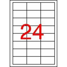 Etikett, 64,6x33,8 mm, poliészter, időjárásálló, APLI, 2400 etikett/csomag (LCA12966)
