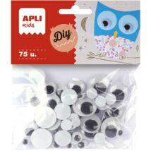 Mozgó szem, kör, APLI Creative, fekete-fehér (LCA13058)