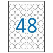 Etikett, 30 mm kör, poliészter, időjárásálló, APLI, 960 etikett/csomag (LCA15092)